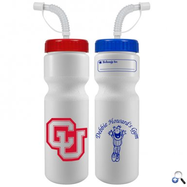 The Journey Bottle - 28 oz Bike Bottle (Straw Lid)