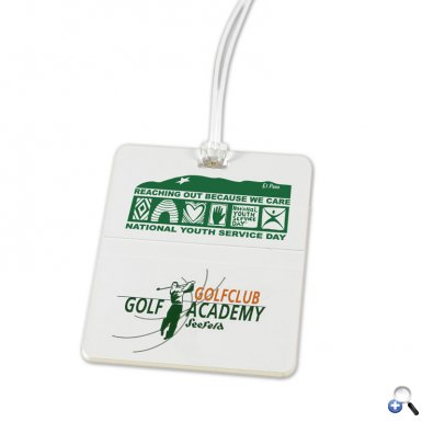 Rectangle Golf Bag Tag