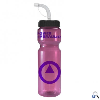 Champion - 28 oz. Trans. Clr Bottle- Straw Lid