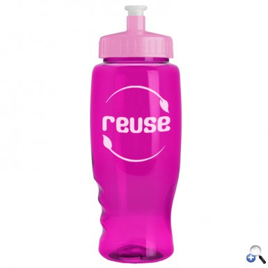 Poly-Pure - 27 oz. Transparent Bottle
