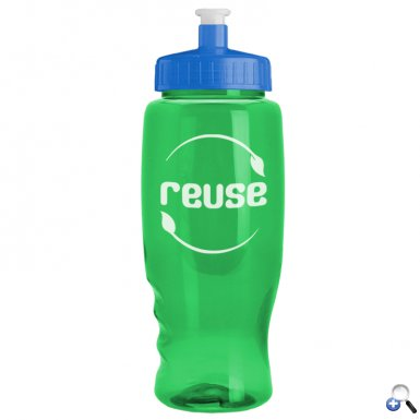 Poly-Pure - 27 oz. Transparent Bottle