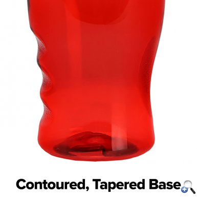 Poly-Pure - 27 oz. Transparent Bottle-Straw Lid