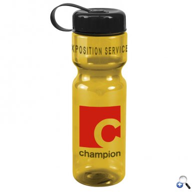 Champion - 28 oz. Trans. Bottle-Tethered Lid