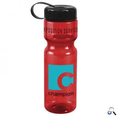 Champion - 28 oz. Trans. Bottle-Tethered Lid