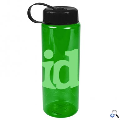 The Guzzler - 32 oz. Trans. Bottle-Tethered Lid