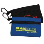 Neoprene Zipper Tote with Carabiner