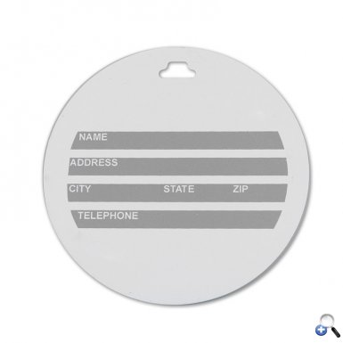 Round Digital Luggage Tag
