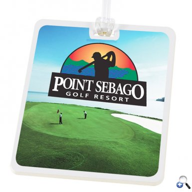 Rectangle Golf Tag - 4c Digital Imprint