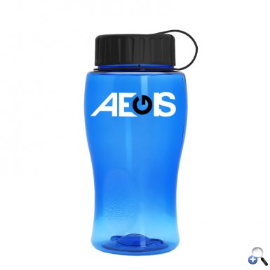 18 oz. Transparent Bottle with Tethered Lid