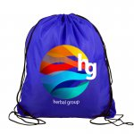 Digital Non-woven Drawstring w Reflector Stripes