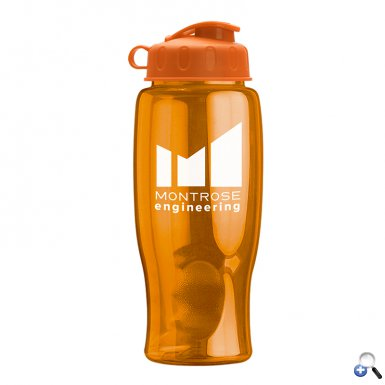 Poly-Pure - 27 oz. Transparent Bottle - Flip Lid