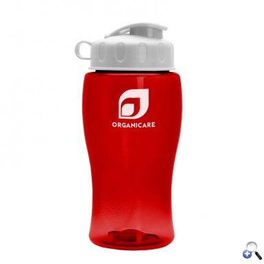 18 oz. Transparent Bottle with Flip Lid