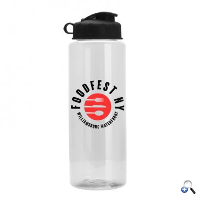The Guzzler - 32 oz. Transparent Bottle - Flip Lid