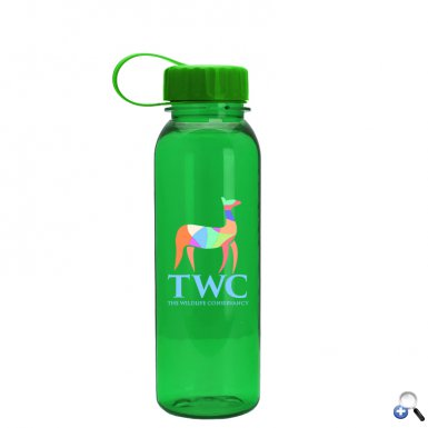 24oz Tritan Bottle -Tethered Lid - Digital Imprint