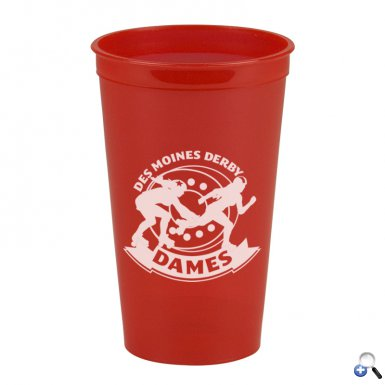 Cups-On-The-Go -20 oz. Transparent Stadium Cup