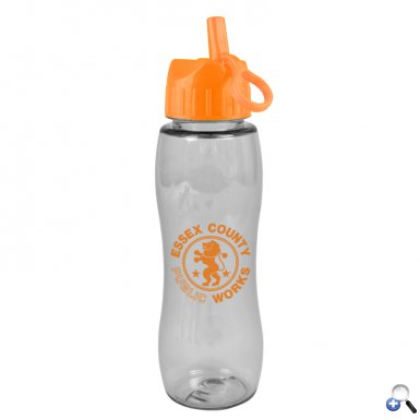 Slim Grip - 25 oz. Tritan Bottle (Flip Straw Lid)