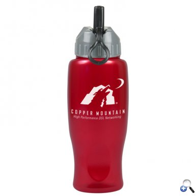 The Alloy - 27 oz. Metalike Bottle -Flip Straw Lid