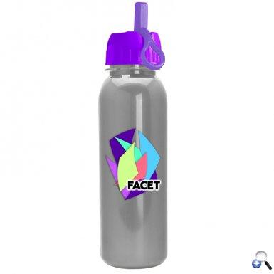 24oz Tritan Bottle Flip Straw Lid Digital Imprint