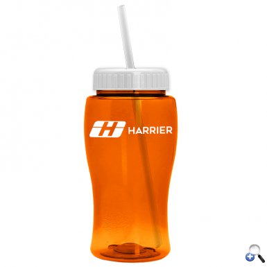 18 oz. Transparent Bottle with Straw Lid