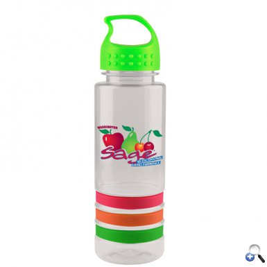 24 oz Tritan Stripe Bottle - Crest Lid - Digital