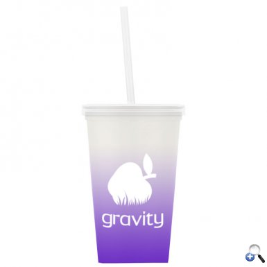 On-The-Go - 20 oz. Color Change Straw Tumbler