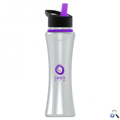 Two-tone Curve - 17 oz. Bottle, Flip Lid & Collar