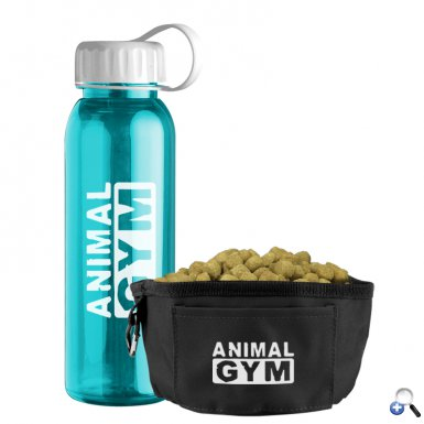 24 oz. Tritan Bottle & Folding Dog Bowl