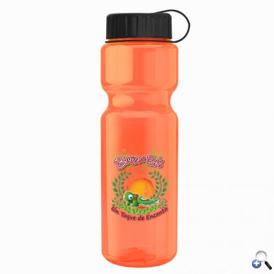 Champion - 28 oz. Trans. Bottle - Tethered Lid
