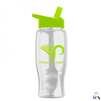 Poly-Pure - 27 oz. Bottle -Flip Straw Lid
