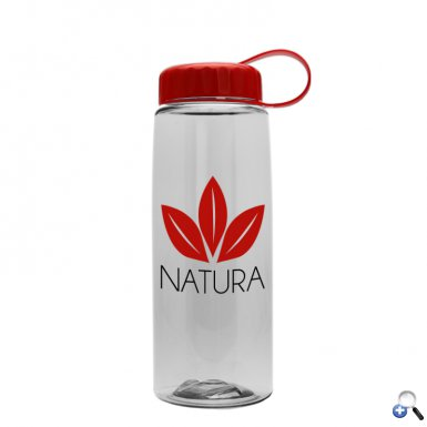 26 oz Tritan Flair Bottle with Tethered Lid