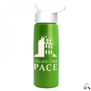 26 oz Metallic Flair Bottle - Flip Straw Lid