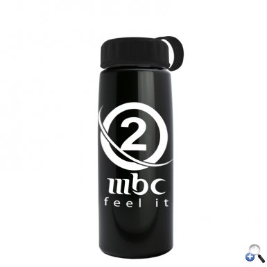 26 oz Metallic Flair Bottle - Tethered Lid