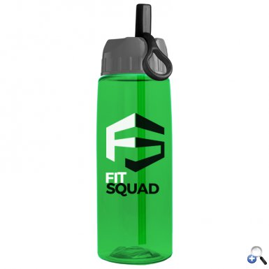 26 oz Tritan Flair Bottle with Ring Straw Lid