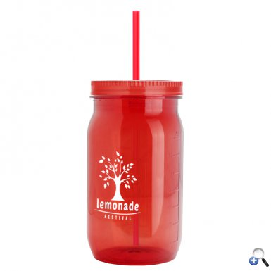 27 oz Tritan Mason Jar - Colors - Straw Lid