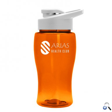 18 oz. Transparent Bottle with Drink-Thru Lid