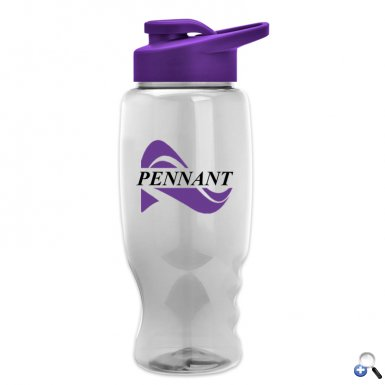 Poly-Pure - 27 oz. Bottle - Drink-Thru Lid