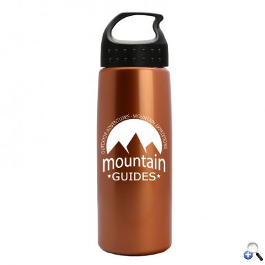 26 oz Metallic Flair Bottle with Crest Lid