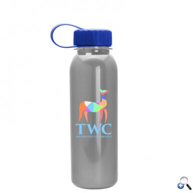 24oz Digital Metalike Tritan Bottle -Tethered Lid