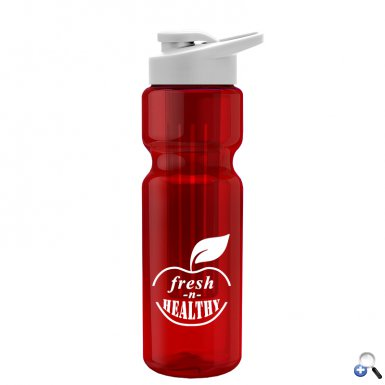 28 oz. Bottle -  Long Infuser - Drink-Thru Lid