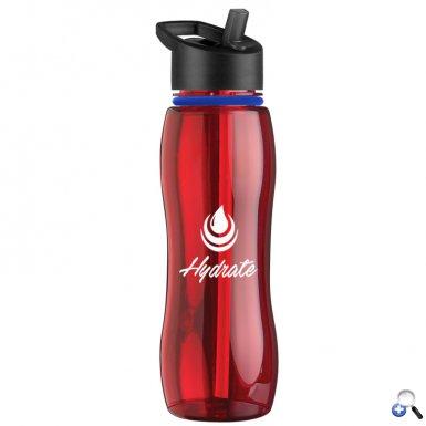 25 oz. Tritan Bottle with Collar - Flip Straw Lid