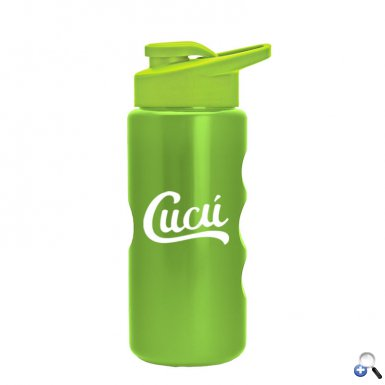 Mini Peak - 22 oz. Metalike Bottle -Drink Thru Lid