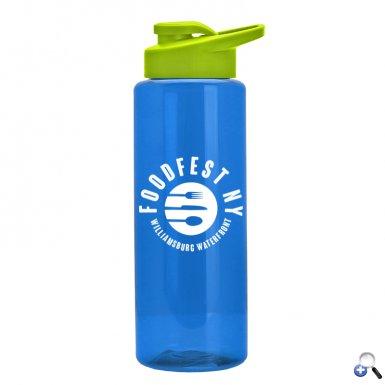 The Guzzler - 32 oz. Transparent Bottle - Snap Lid