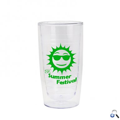 15 oz Insulated Acrylic Open Tumbler