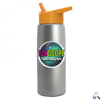 Digital Metallic Flair Bottle - Flip Straw Lid