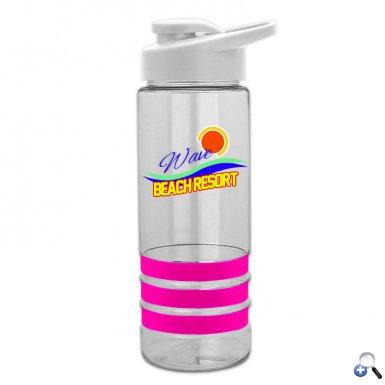 Digital 24 oz Stripe Tritan Bottle with Snap lid