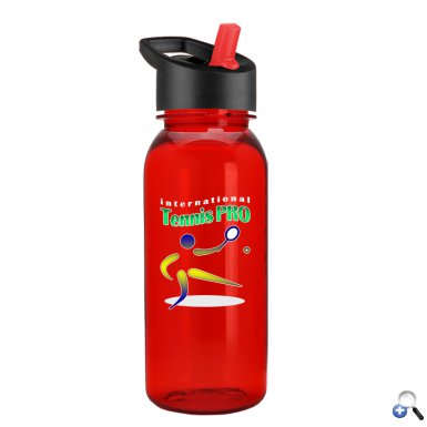 Digital Cadet 18 oz. Tritan Bottle with Flip Straw