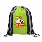 Digital Polyester Drawstring w Reflector Stripes
