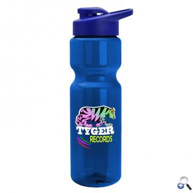 28 oz. Trans. Bottle with Snap Lid - DP