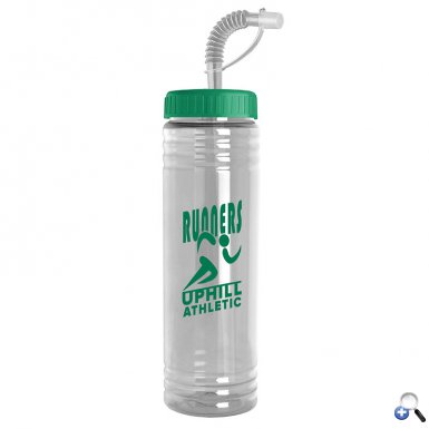 24 oz. Slim Fit Water Bottle with Straw Lid
