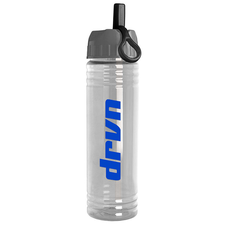 24 oz. Slim Fit Water Bottle with Ring Straw Lid